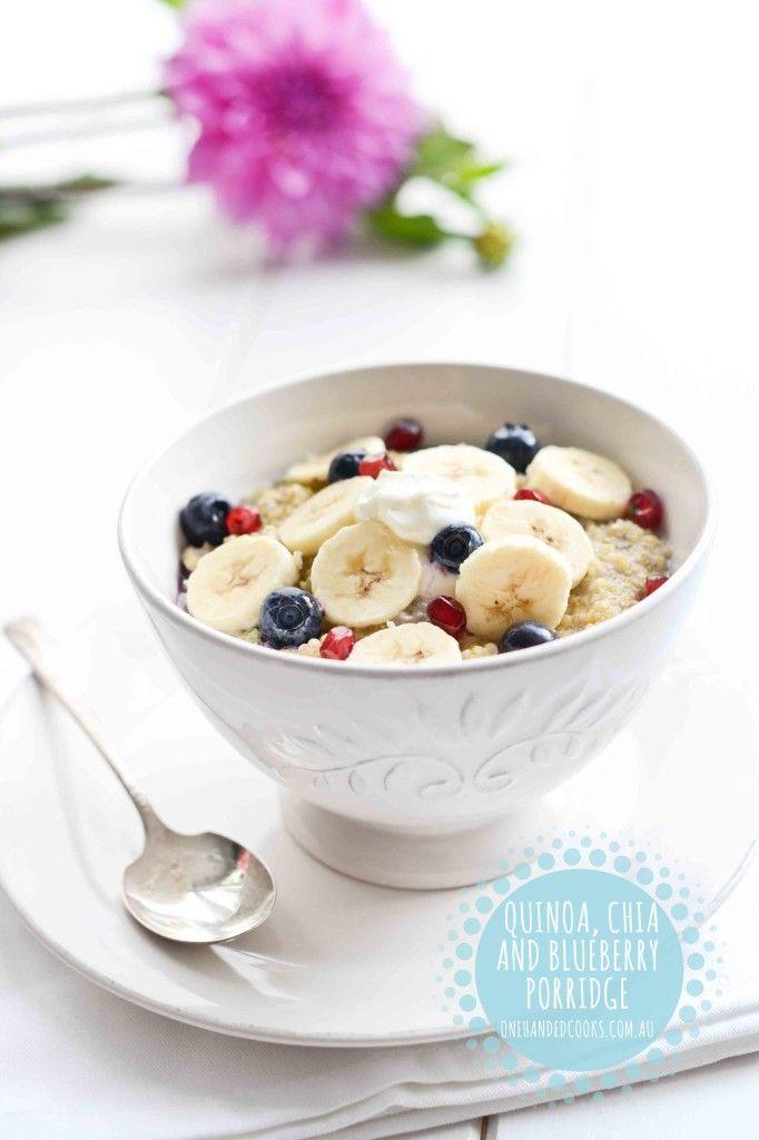 Quinoa, Chia & Blueberry Porridge - One Handed Cooks
