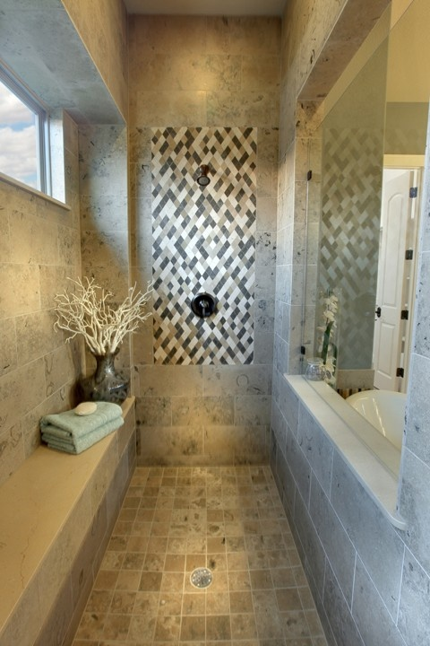 Walk-in shower. (Literally)