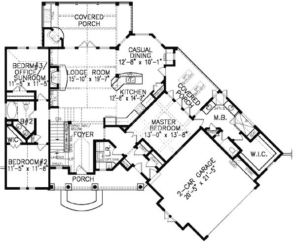 Best 28 corner lot house plans craftsman plan 16850wg for Corner lot house plans