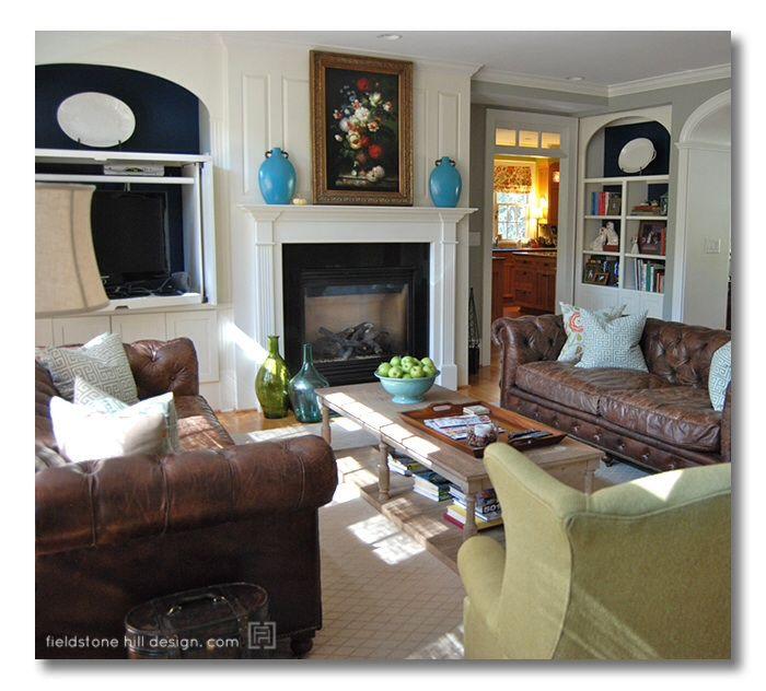 Aqua and brown living room living rooms pinterest - Brown and aqua living room pictures ...