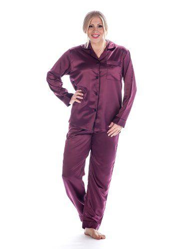 Purple Womens Satin Pajamas