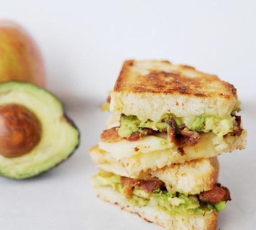 avocado + bacon + grilled cheese
