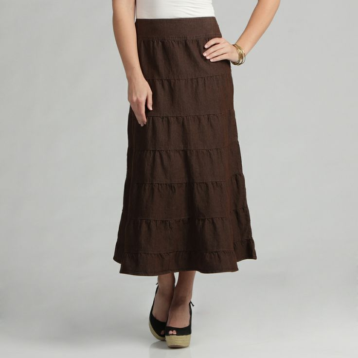 Unique Women Chiffon Long Skirts Candy Color Pleated Maxi Women Skirts