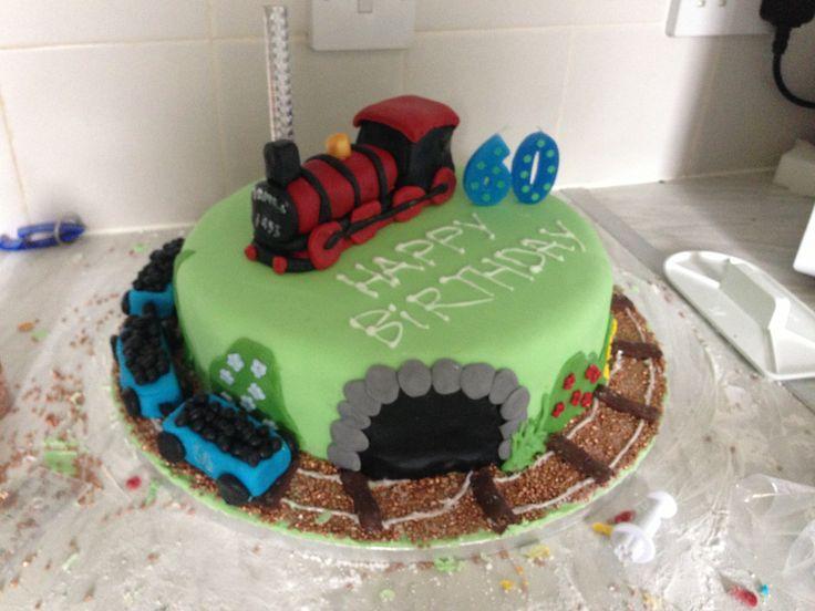 Steam Train Cake Images : Train cake. Steam train. Cakes Pinterest