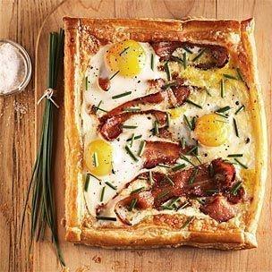 bacon & egg breakfast tart | Food | Pinterest