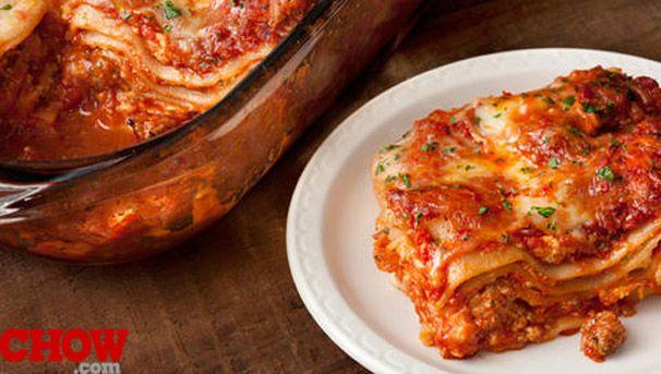 Talk Chow: Turkey Sausage Lasagna | LASAGNA | Pinterest