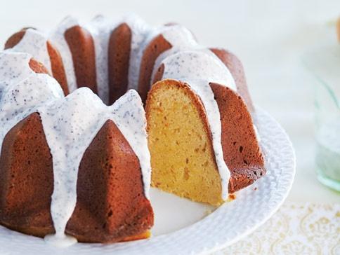 Orange Pound Cake With Poppy Seed Glaze | Bundt Cake | Pinterest