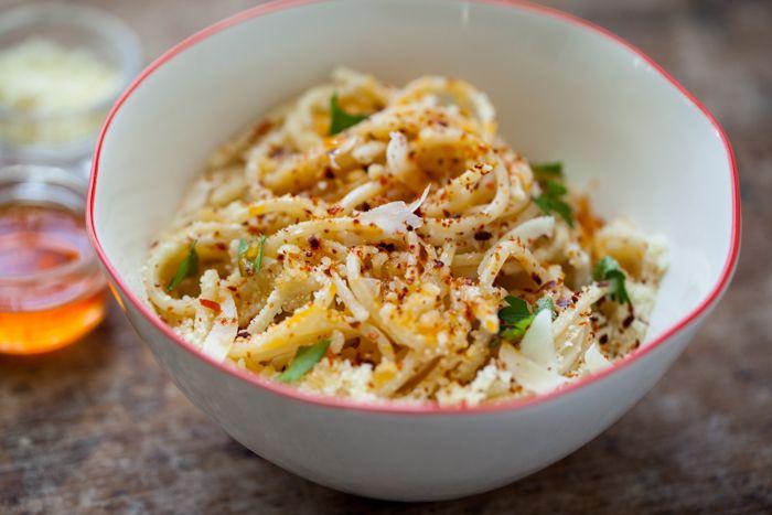 Midnight pasta with pecorino and olio santo | Recipe