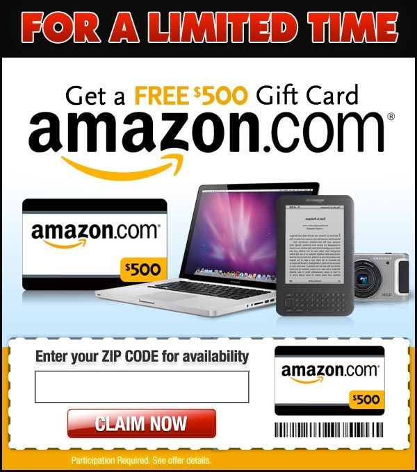 free $500 amazon gift card email