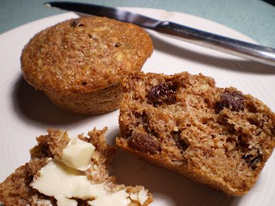 Vegan Bran Muffins with Coconut, Banana, Raisins And The Kitchen Sink