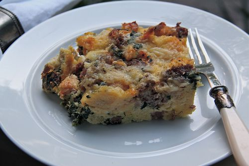 Rustic Sourdough Spinach Strata