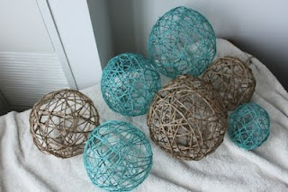 Yarn Balls -Fun to do for a baby mobile or a lantern. :)