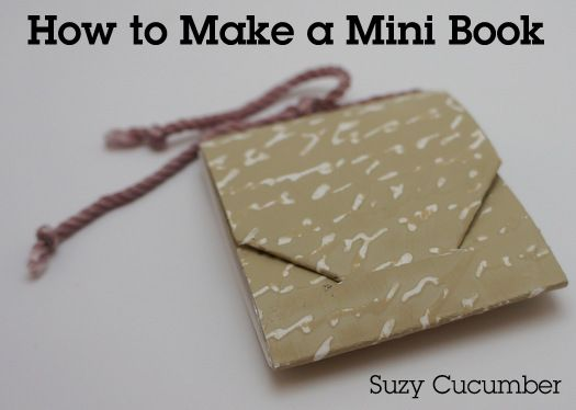 Make a mini book using paint chips