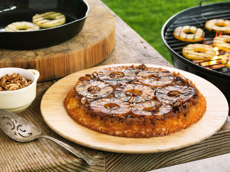 Grilled Pineapple Upside-Down Cake   recipes   Pinterest
