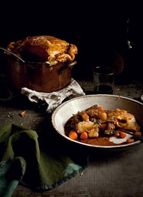 ... Irish Lamb Stew Pie with Irish Mash; Apple, Ginger & Blueberry