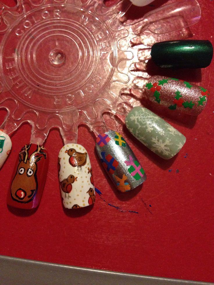 nail art, using acrylic paints | My freehand Nail art | Pin
