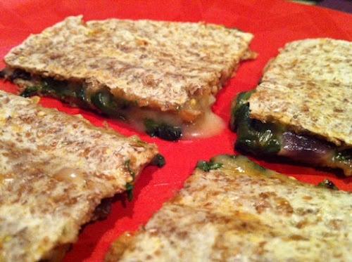 Spinach and Mushroom Quesadillas | food | Pinterest