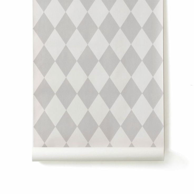 Ferm Living Tapete Harlequin : Ferm Living Tapete Harlequin grau Color your home: White Pinterest