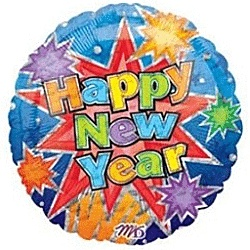 New Years themed balloons are an inexpensive and festive way to decorate for your New Years Eve party this year as you say goodbye to this year