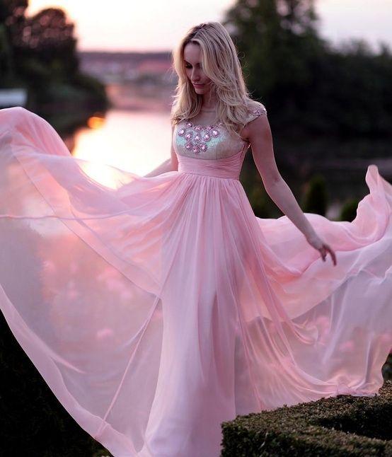 Pink Wedding Dresses Princess : Princess pink dress wedding dresses