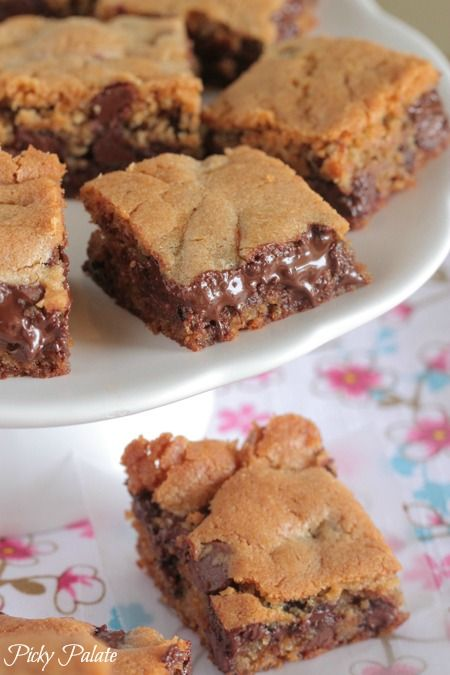 Vanilla Malted Chocolate Chip Cookie Bars from @Jenny Flake, Picky ...