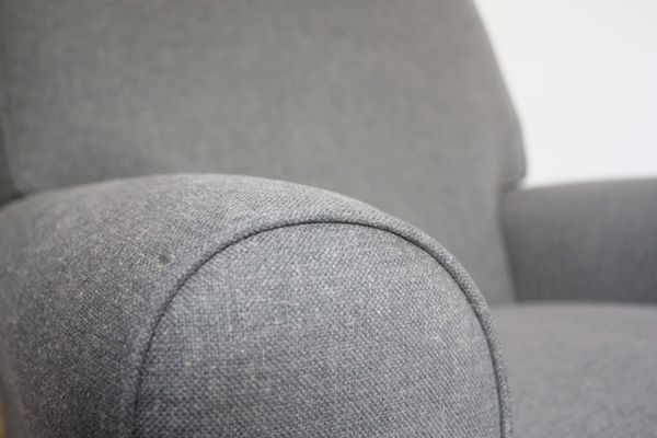 need to find thick gray fabric with which to upholster the glider