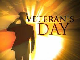 november Veteran's Day.....