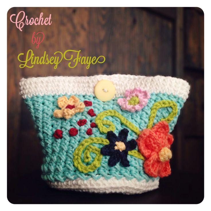 Crochet Makeup Case : Crochet makeup bag inspiration for a DIY heart Pinterest