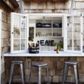 Outdoor bar - this would be great for serving my kids lunch outside:)