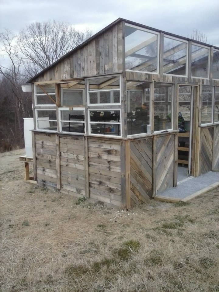 300 reclaimed pallet greenhouse build garden structures