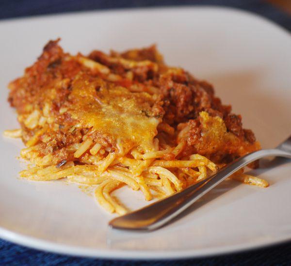 Baked Cream Cheese Spaghetti Casserole (Weight Watchers 10 Points ...