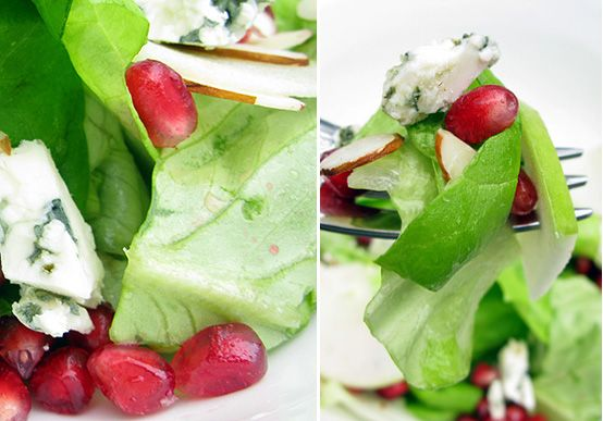 POMEGRANATE & GORGONZOLA SALAD-- one of the most delicious salads I've ever tasted.