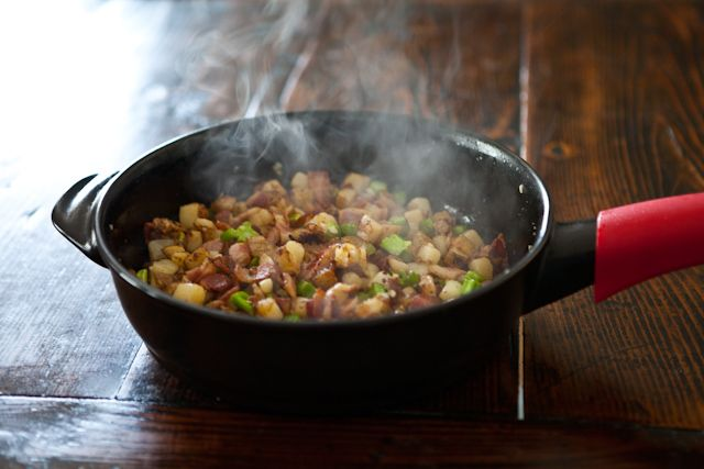 Broccoli Potato and Bacon Hash | Recipe