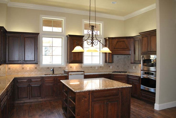 pecan wood cabinets | Kitchen | Pinterest