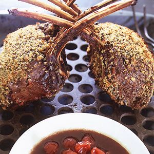 Rack of Venison with Sour Cherry Port Sauce Recipe - This bread crumb ...
