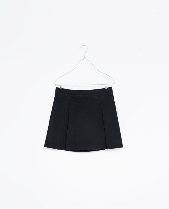 Zara Denim Pleated Skirt 87