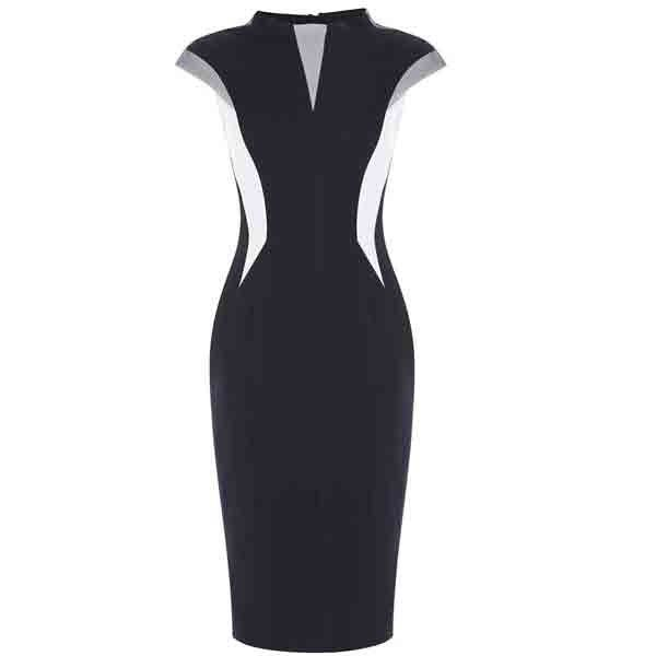 Geometric cut modern dress www gloria agostina com www gloria agostina
