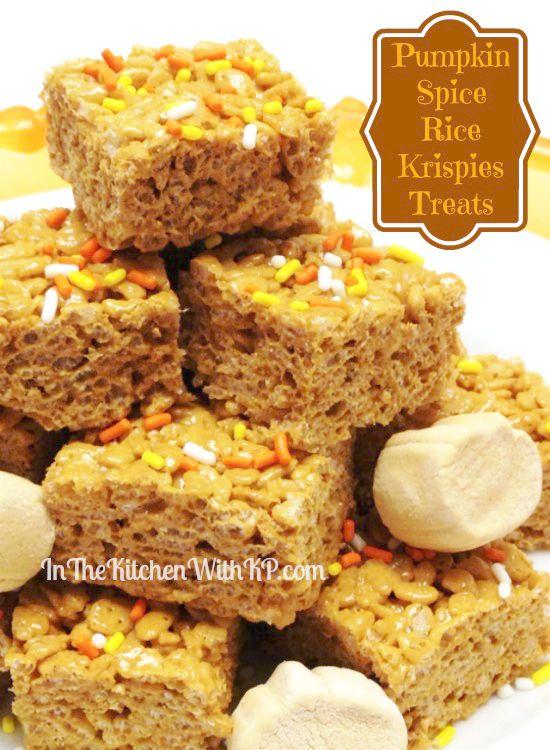 Pumpkin Spice Rice Krispies Treats #EatAllThePumpkin from ...