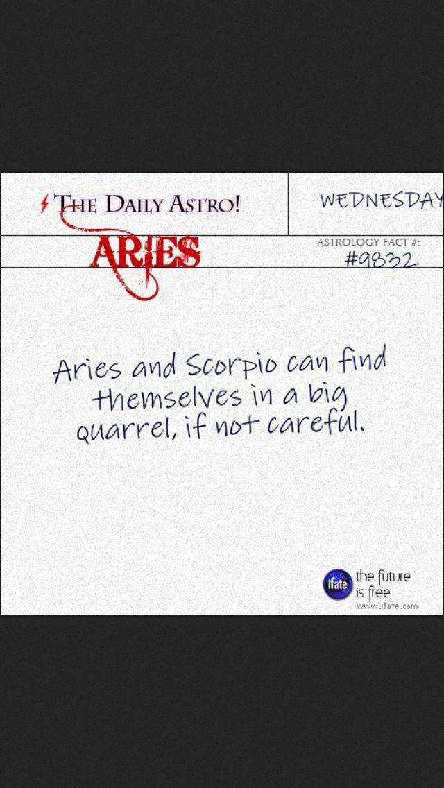 Aries and Scorpio | Zodiac Facts! | Pinterest