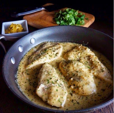 Dijon Tarragon Chicken | Serves 4; Cal: 230, Fat: 13.4g, Carb: 1.8g ...