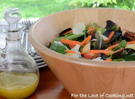 Mixed Greens Salad with Apples, Carrots, Candied Pecans, and Parmesan ...