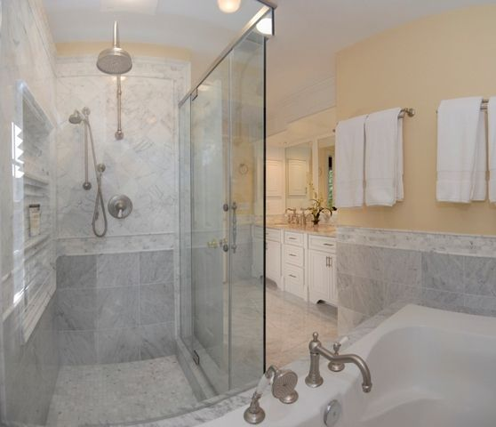 Marble master bath tile stone pinterest for Marble master bathroom