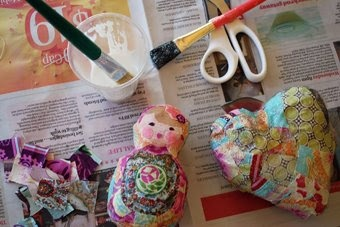 the red thread: Crafting With Kids Tutorial: Cheat's Papier Mache
