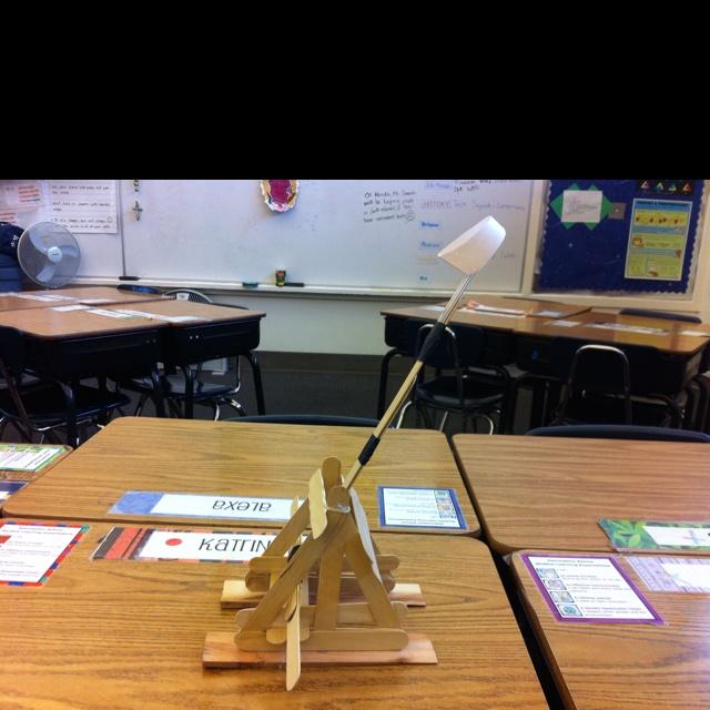 Catapults we make in Algebra