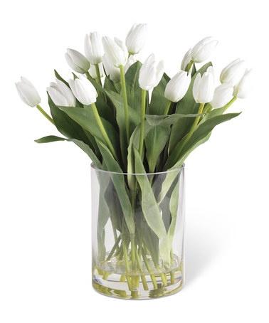 White Tulips & Vase