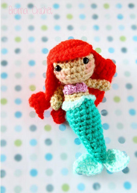 Amigurumi Little Mermaid : Little Mermaid ? Kawaii Amigurumi plush