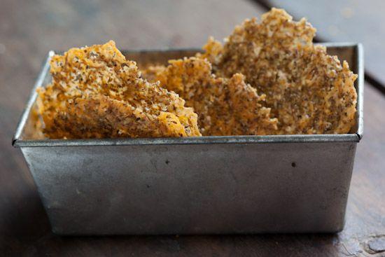 Herbed Cheddar Parmesan Crisps   Appetizers and Sides   Pinterest