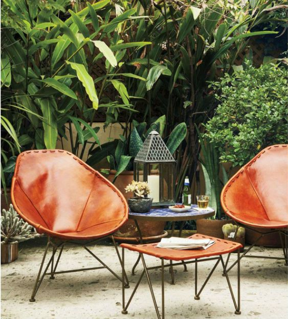 Leather acapulco chairs patio on the range pinterest
