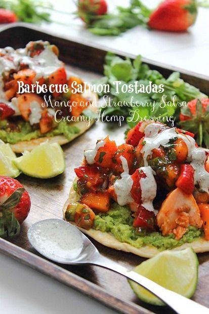 Salmon Tostadas Cinco de Mayo | Peachy Palate