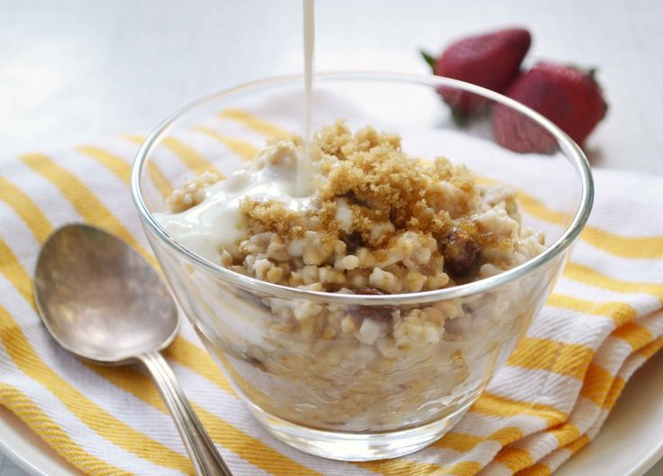 The easiest way to make steel-cut oats - overnight!